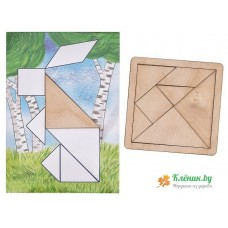 Танграм + карточки Кроха