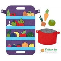 Сумка Овощи,фрукты и ягоды (фетр)