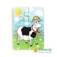 Пазл «Корова на лугу»